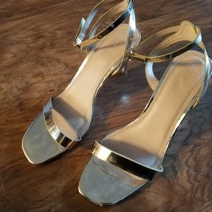 Women's size 9 Gold Heels aosos shoes brand